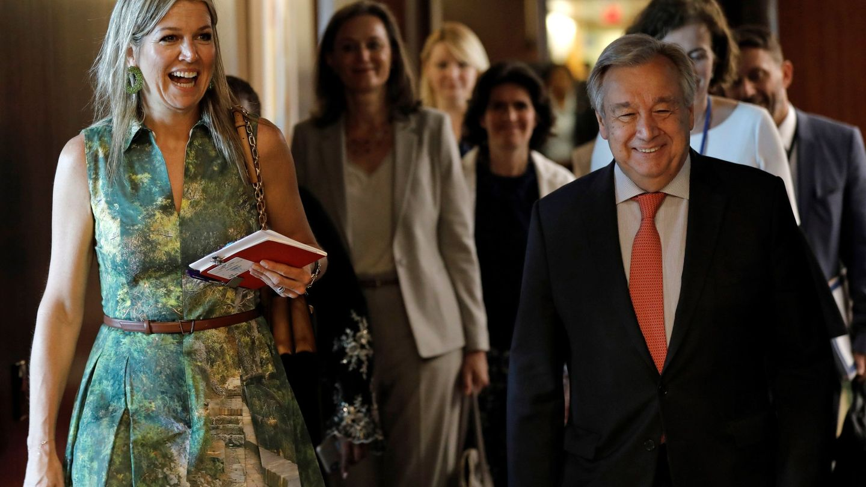La reina Máxima en la ONU. (EFE)