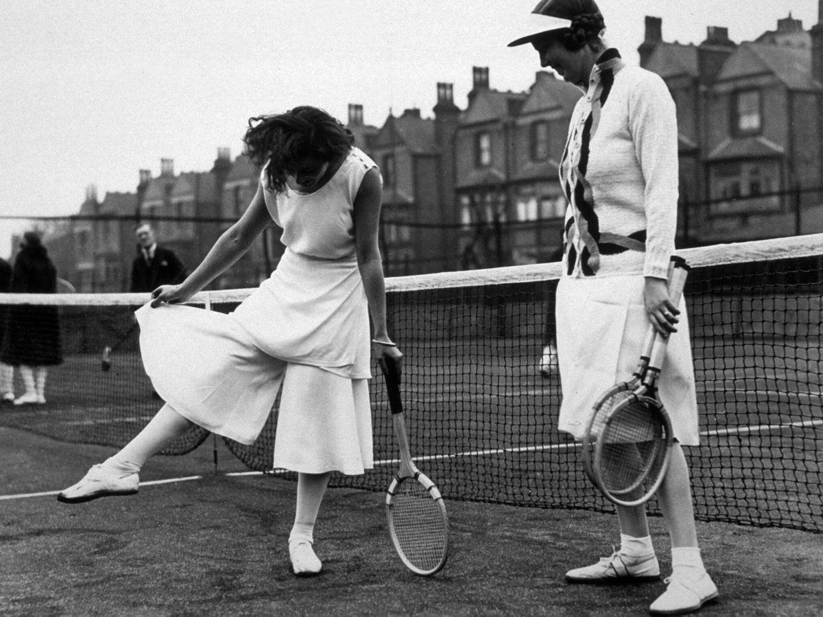 Foto: Lilí Álvarez en el North London Tennis Tournament en Highbury, London. (Getty)