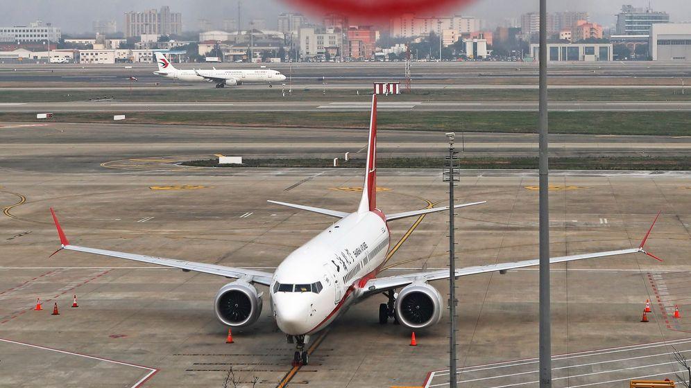 Foto: Un avión de pasajeros 737 Max 8, en China. (EFE)