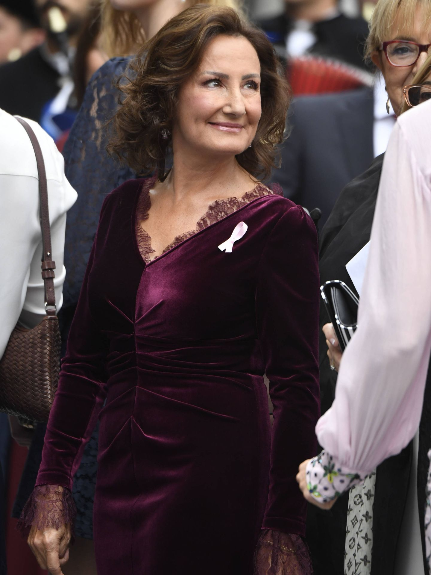 Paloma Rocasolano, a su llegada al teatro Campoamor. (Limited Pictures)