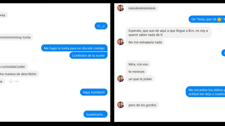 Parte de las conversaciones entre DalasReview y Mel Domínguez (focusinsvlogs).