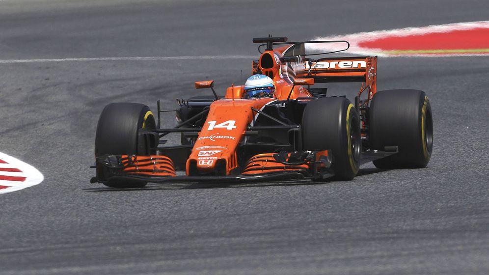 Foto: Alonso, durante el Gran Premio de España. (EFE)