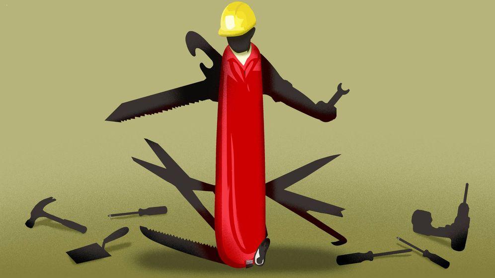 Foto: Las empresas de la precariedad han multiplicado su negocio con la reforma laboral. Ilustración: RAÚL ARIAS
