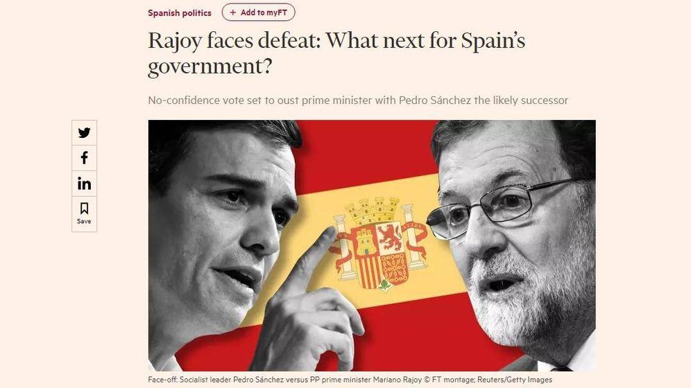 Foto: El artículo del 'Financial Times' en el que se describe a Sánchez como Mr. Guapo