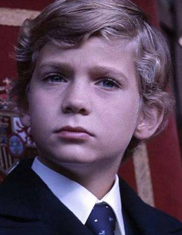 Felipe a los 9 años.