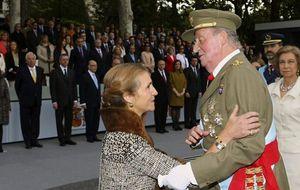 Casa Real no se aclara: saca a la infanta Elena del palco en la Fiesta Nacional, pero intensifica su agenda
