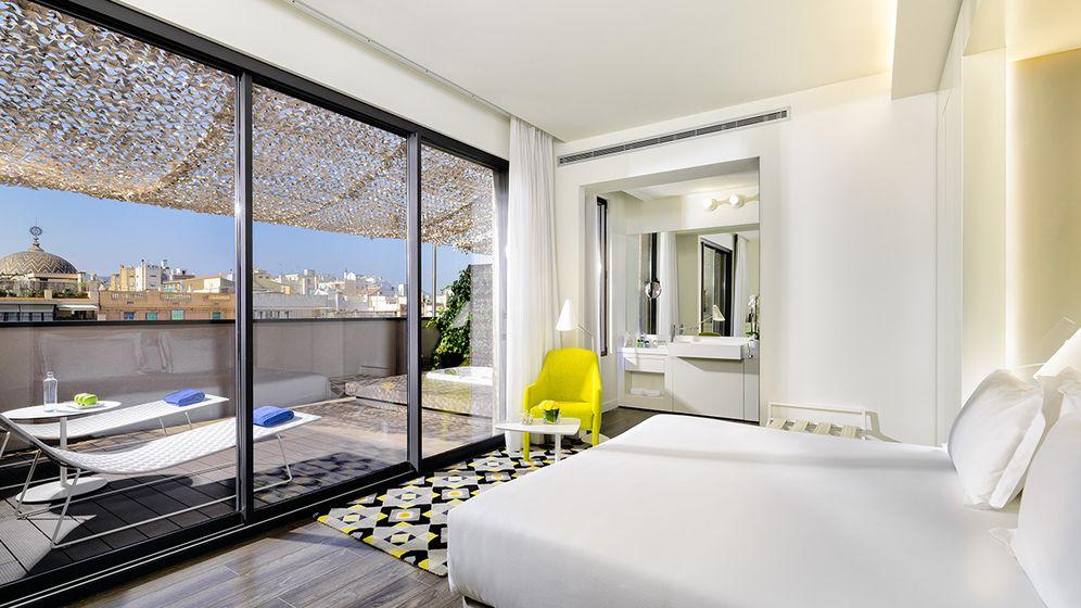 Foto: Habitación del H10 Urquinaona, en Barcelona