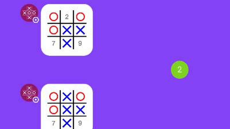 Así se juega al tres en raya en Kik. (Imagen: Kik)