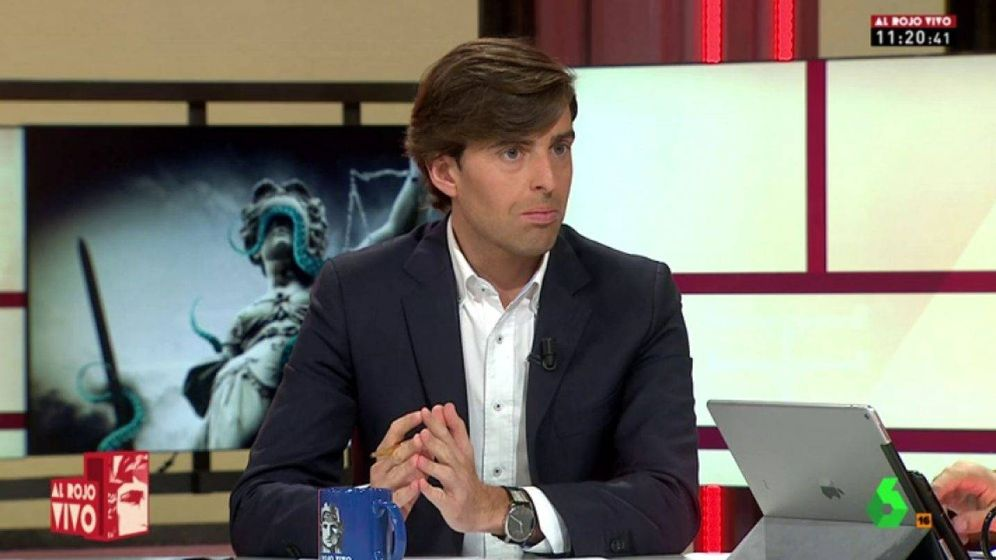Foto: El periodista Pablo Montesinos en La Sexta