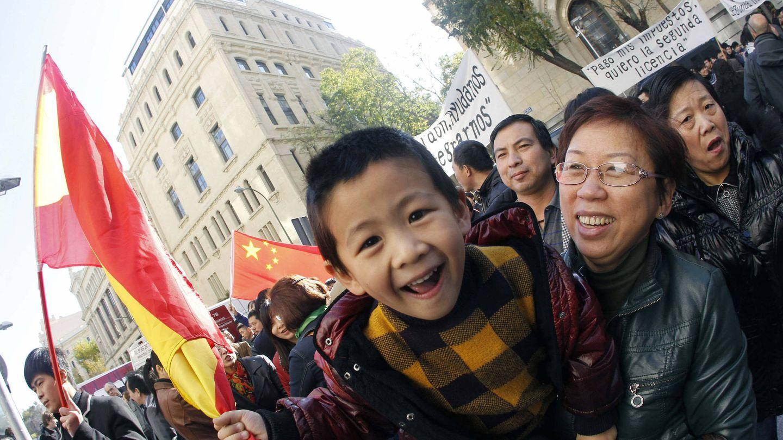 Manifestación de vendedores chinos en Madrid en 2011. (EFE)