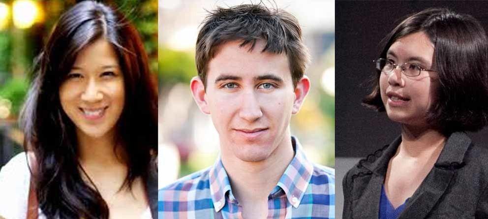 Foto: De izquierda a derecha, Carmen Ho, Dale J. Stephens y Adora Sivtak.