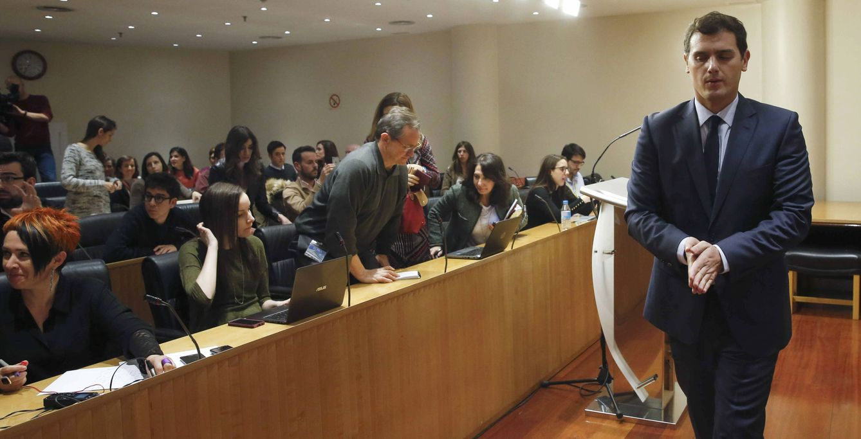 Rueda de prensa del presidente de Ciudadanos, Albert Rivera. (EFE)