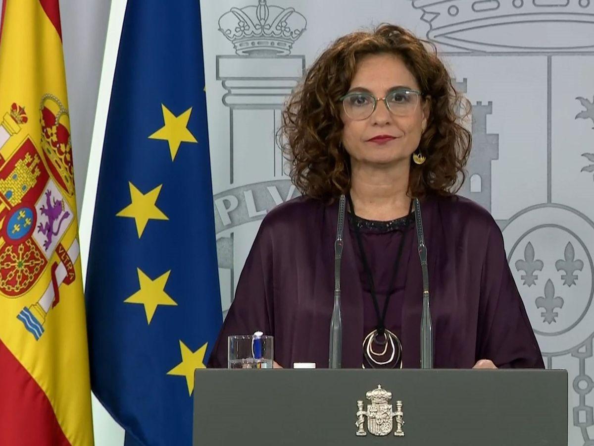 Foto: La ministra portavoz y de Hacienda del Gobierno, María Jesús Montero. (EFE)