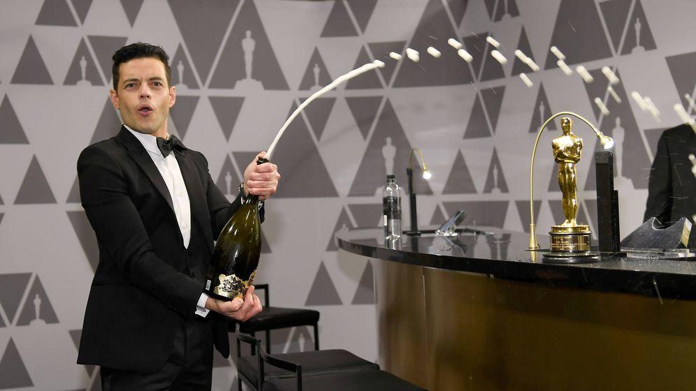 Foto: Rami Malek celebra su Oscar. (Getty)