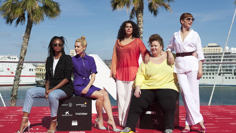 Berta Vázquez, Maggie Civantos, Laura Baena, Itziar Castro y Najwa Nimri, las actrices de 'Vis a vis'. (Getty)
