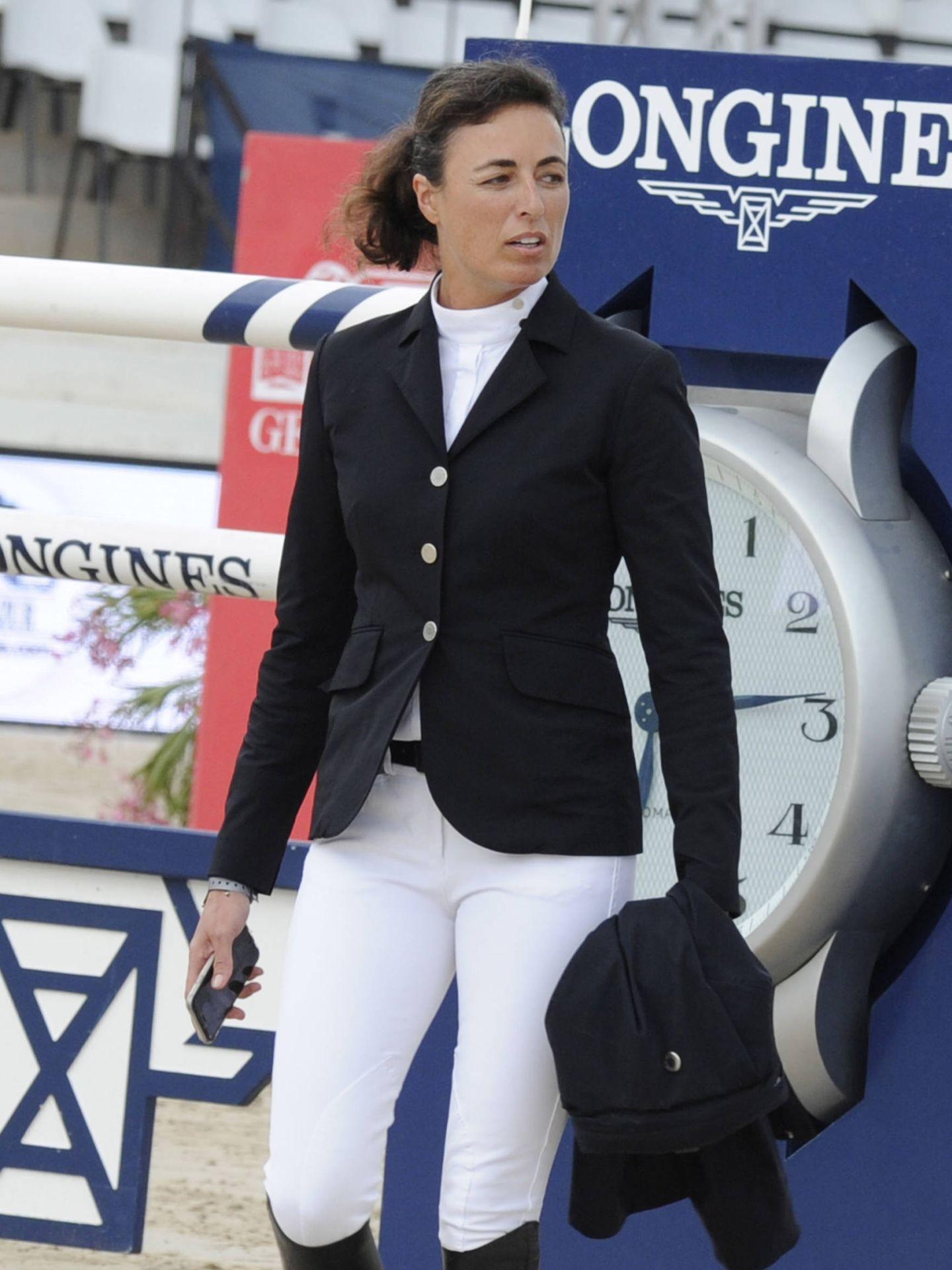 Pilar Lucrecia Cordón, en una competición hípica. (Gtres)