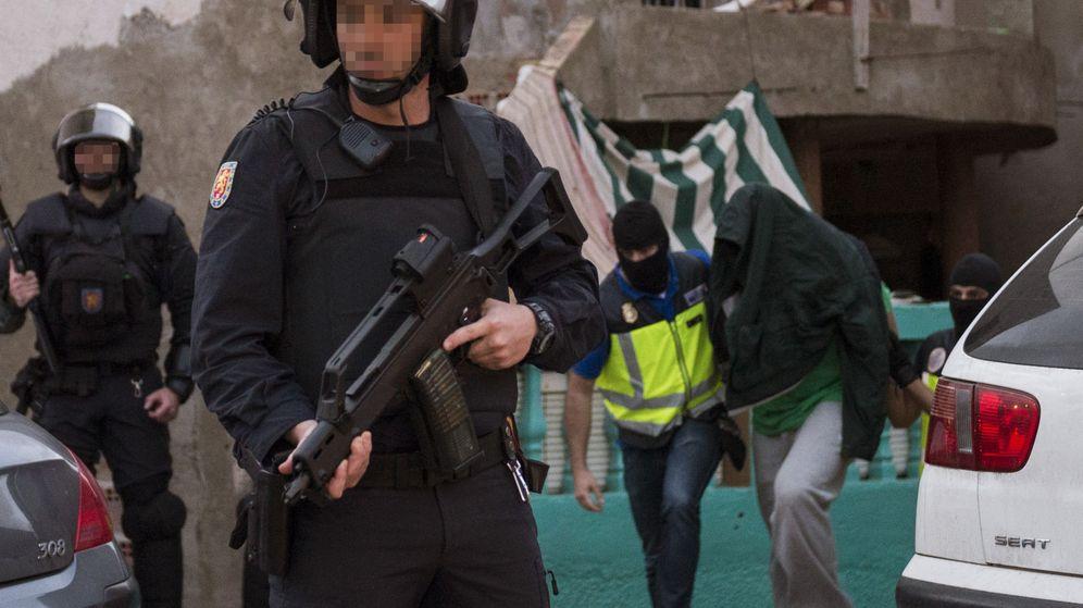 Foto: Fotografía de archivo de una operación antiyihadista en Melilla. (EFE)