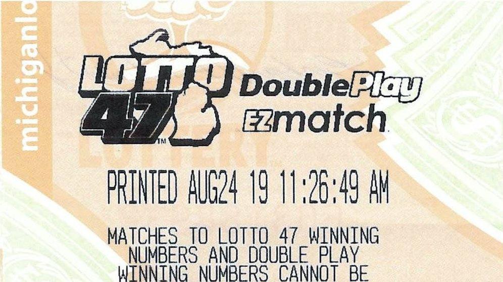 Foto: Detalle del recibo del boleto ganador. Foto: Lotería de Michigan.