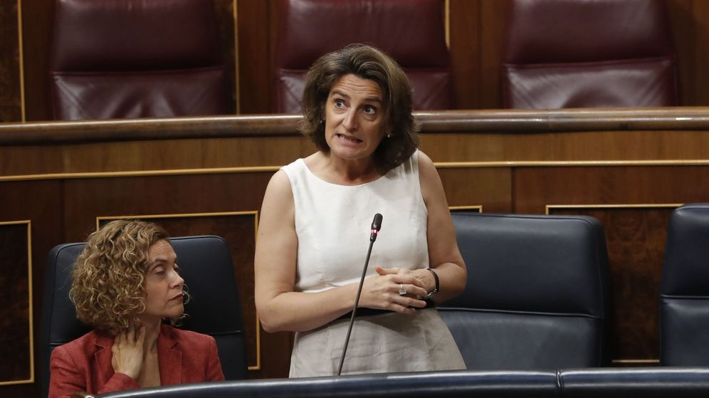 Foto:  La ministra de Transición Ecológica, Teresa Ribera, durante su intervención en la sesión de control al Gobierno (Efe)