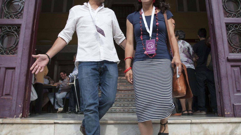 Teresa Rodríguez y su pareja, Kichi. (EFE)