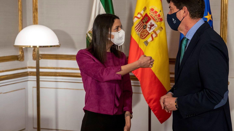 Inés Arrimadas y Juan Marín, el pasado mes de enero, en Sevilla. (EFE)