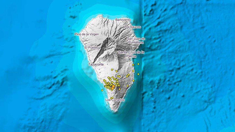 Mapa de los terremotos registrados en los tres últimos días (IGN)
