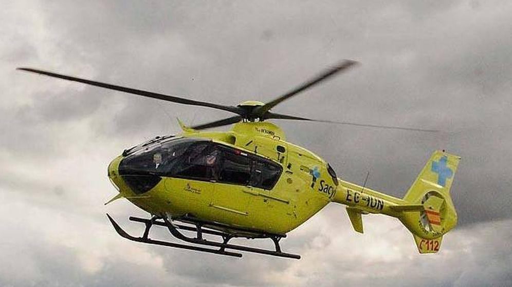 Foto: Helicóptero del Servicio de Emergencias 112 de Castilla y León (112 Castilla y León)