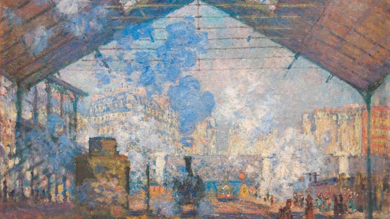 Monet - 'Gare Saint Lazare' (óleo sobre lienzo, 1877)