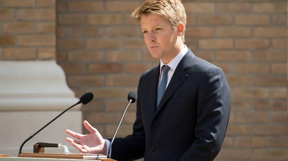 Foto: Hugh Grosvenor, dando un discurso en Leeds, Inglaterra. (Getty)