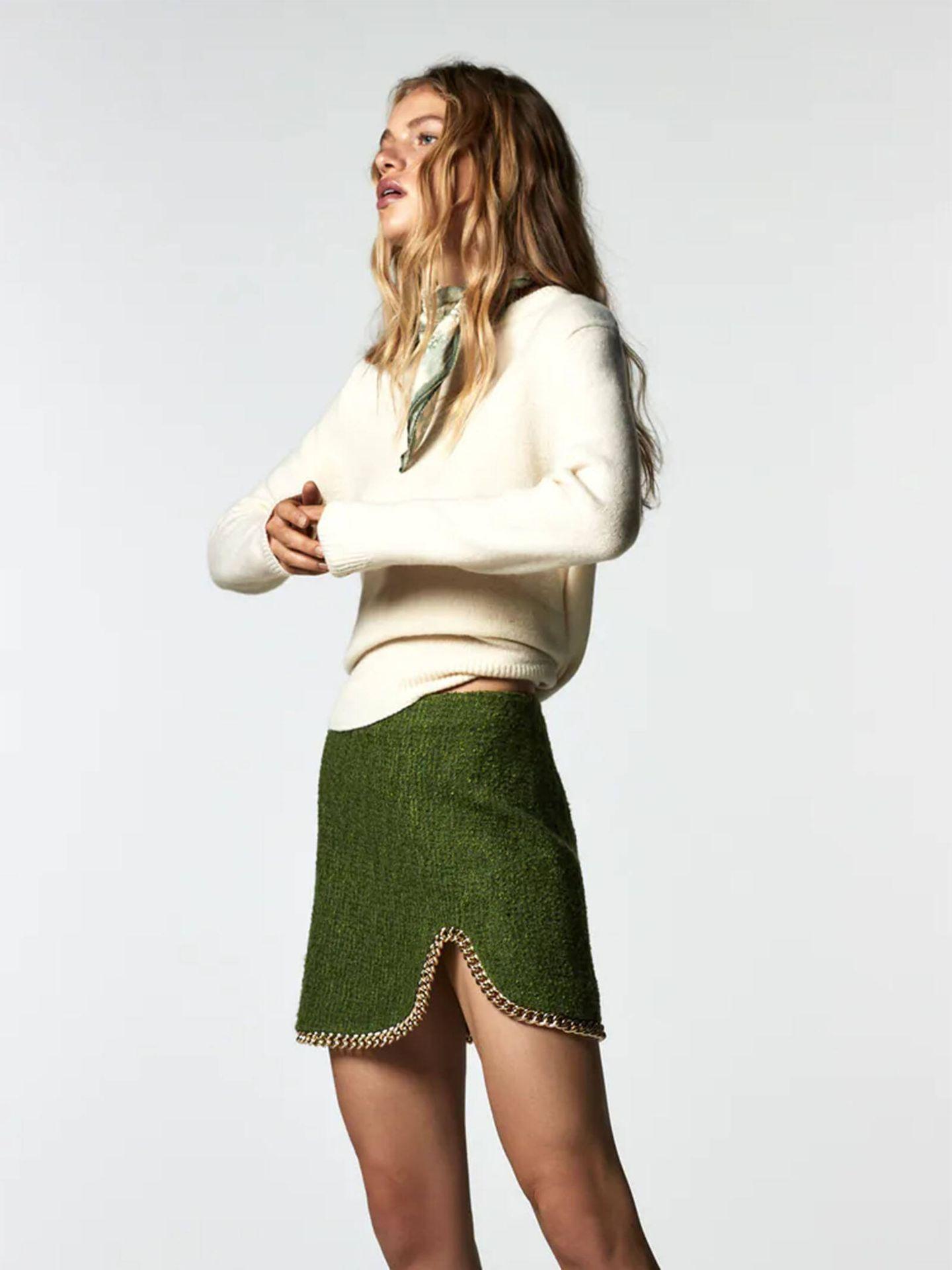 La falda verde de Zara que no dejan de llevar las expertas. (Instagram @franciscafloress)
