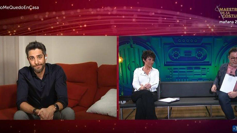 Roberto Leal conecta con el jurado de la gala 9 de 'OT 2020'. (RTVE)