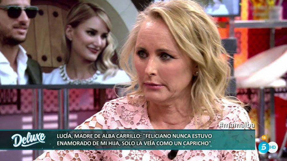 Foto: Lucía Pariente ayer en 'Salvame Deluxe'.