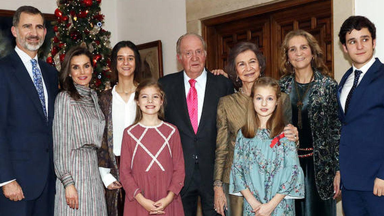 Imagen oficial del 80 cumpleaños del rey Juan Carlos.