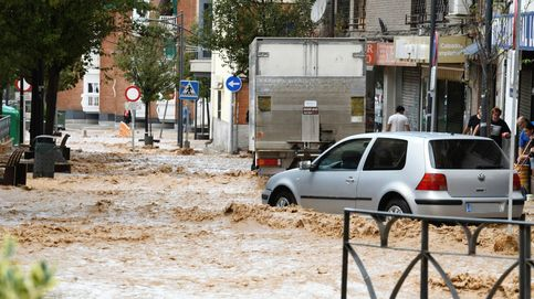 El agua vuelve a inundar Arganda del Rey (Madrid) tras el paso de la nueva DANA o 'gota fría'