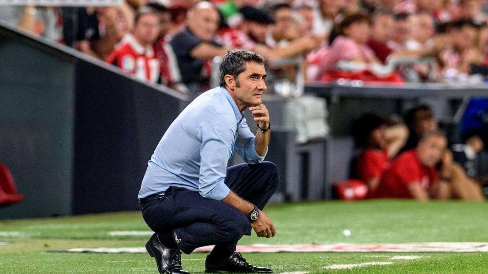 Foto: Ernesto Valverde, durante el Athletic-Barça disputado el pasado viernes en San Mamés. (EFE)