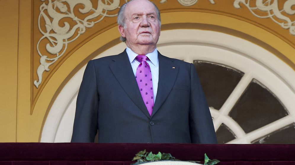 Foto: El rey Juan Carlos, en la plaza de toros de Las Ventas. (Getty)