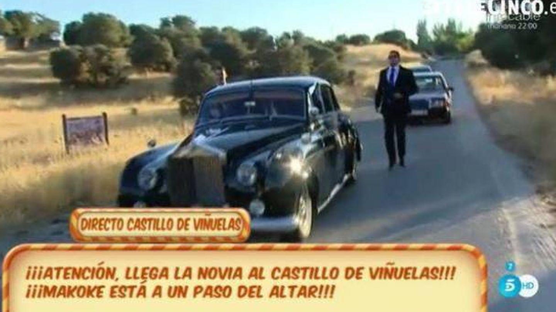Makoke entró con este Rolls Royce al castillo de Viñuelas. (Telecinco)