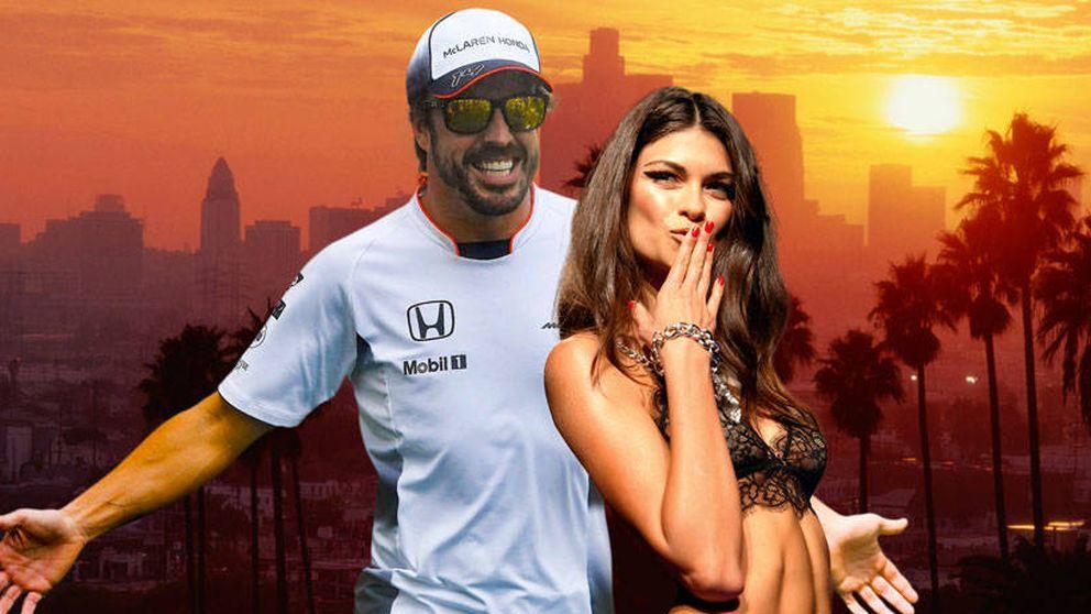 Fernando Alonso, de vacaciones en California con Linda Morselli