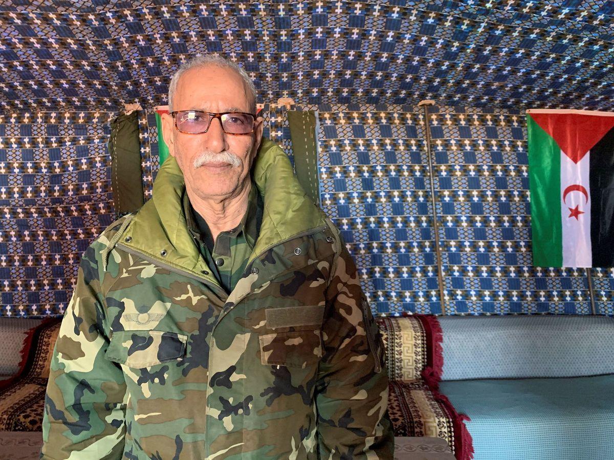 Foto: Fotografía de archivo del líder del Frente Polisario, Brahim Ghali. (EFE)