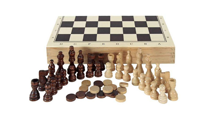 Tablero de ajedrez en estuche Aquamarine