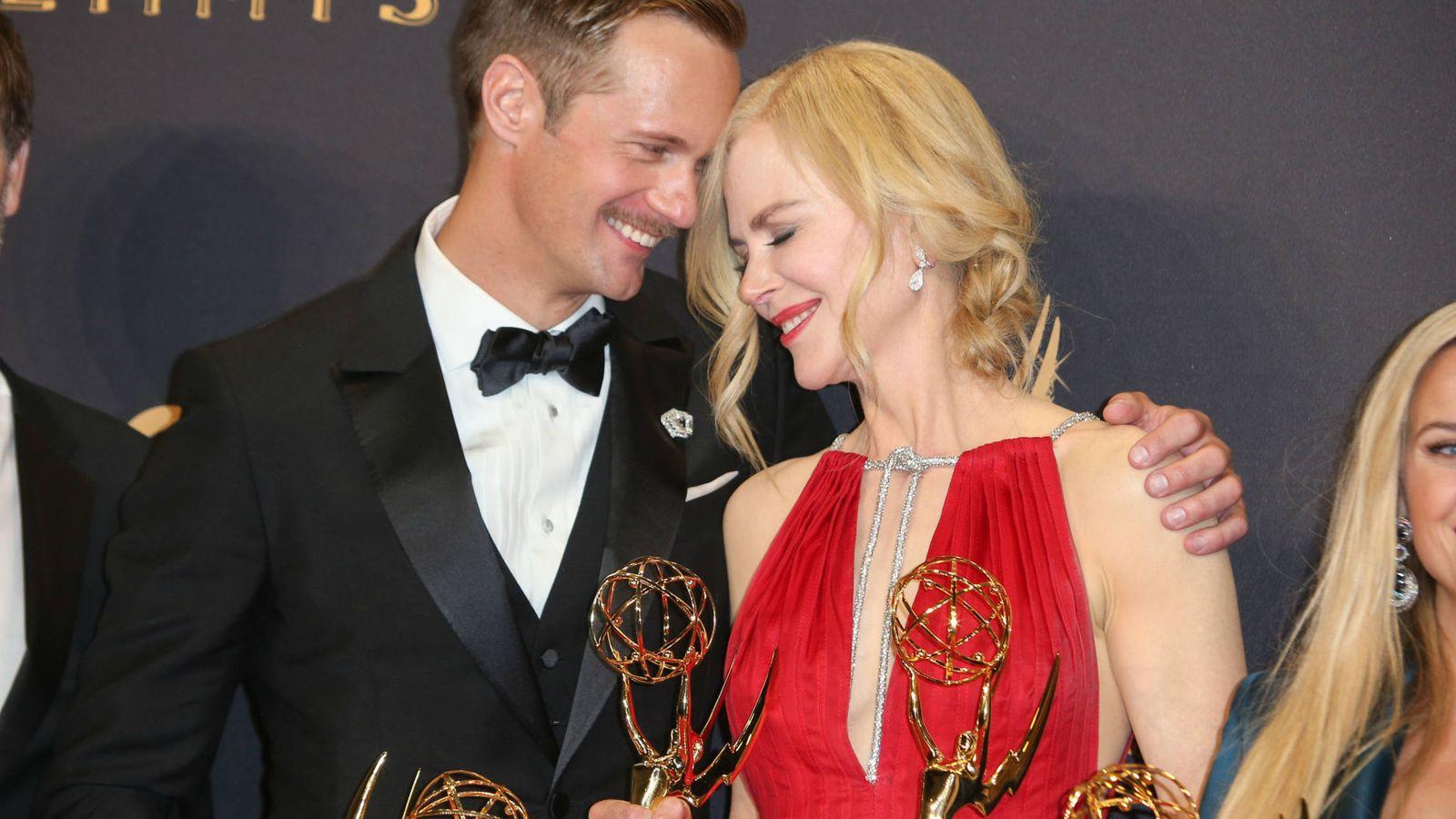 Foto: El actor Alexander Skarsgard y la actriz Nicole Kidman en los Premios Emmy. (Gtres)