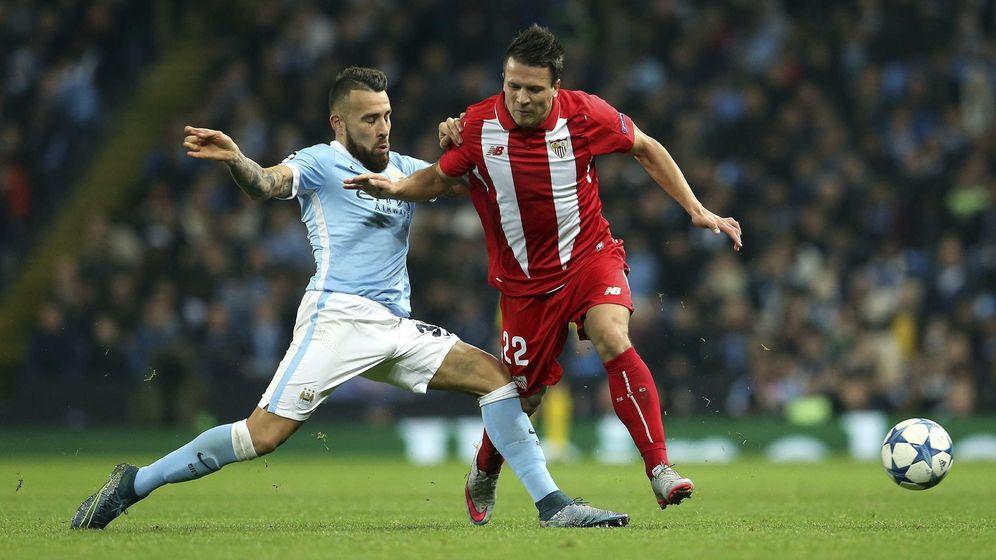 Foto: El Sevilla comenzó ganando en Manchester hace dos semanas (Efe)