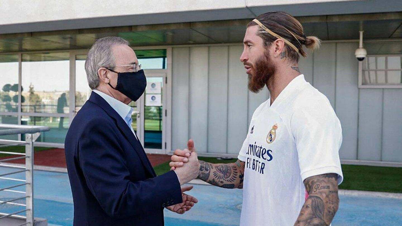 Ramos y el presidente, en una de las últimas escenas juntos. (EFE)