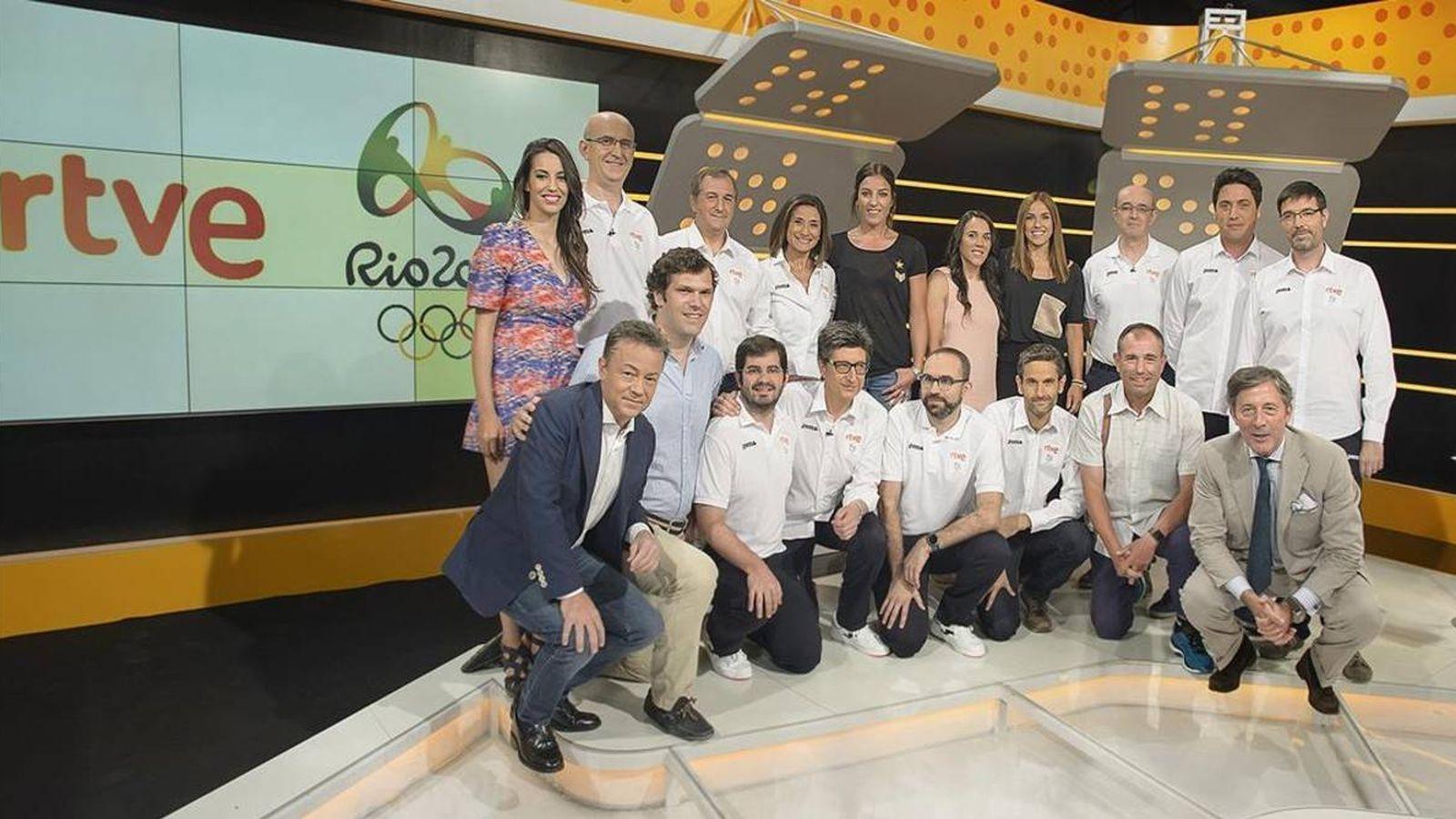 Foto: Parte del equipo volcado en la cobertura de los Juegos Olímpicos. (RTVE)