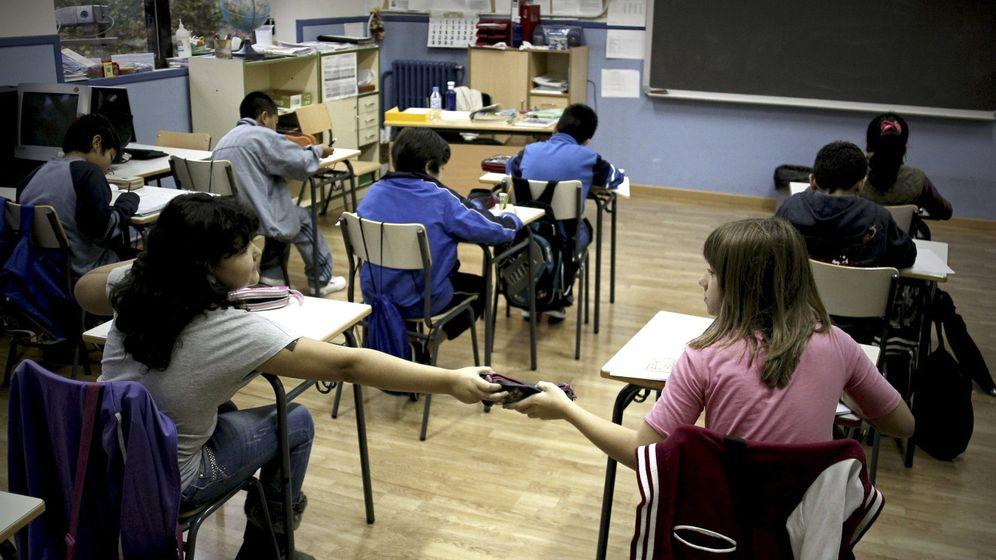 Foto: Vista de un aula en un colegio de Madrid. (EFE)