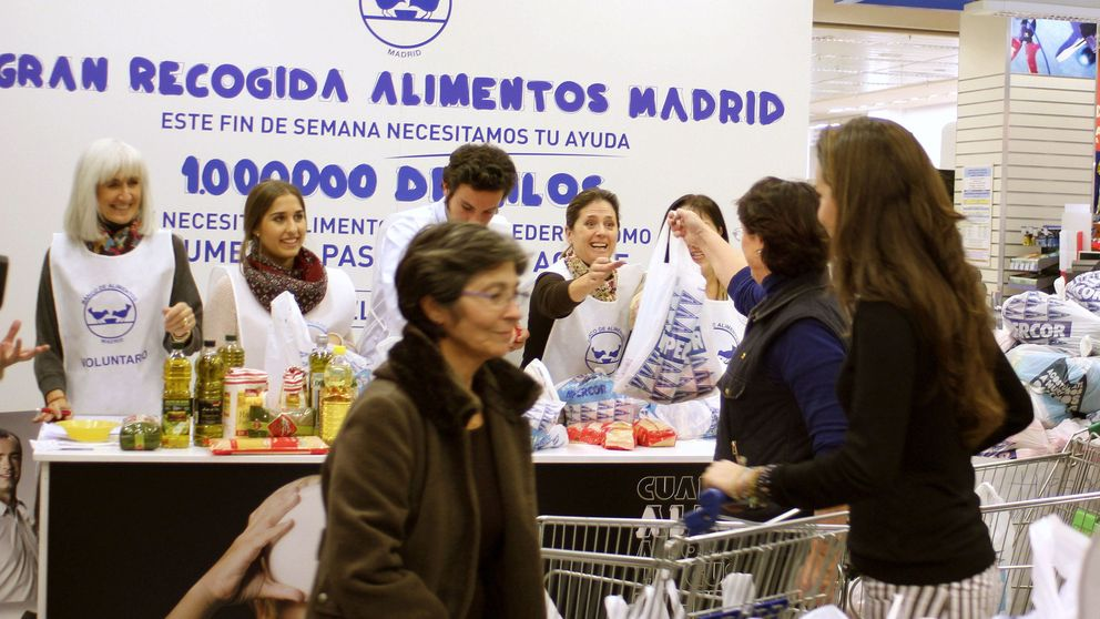 110.000 voluntarios para recoger 21 millones de kilos de alimentos