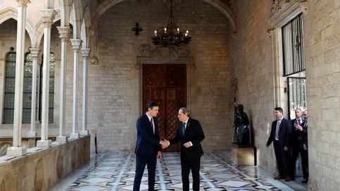 Creo que tienes que ir a mi derecha: Torra dio a Sánchez el lugar de mayor rango