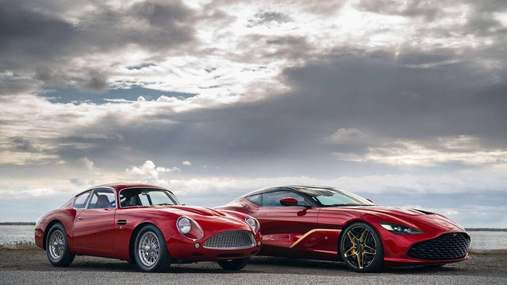 Foto: Aston Martin DB4 GT Continuation y DBS GT Zagato, una pareja de deportivos que vale más de 6,5 millones de euros, sin impuestos. Nick Dungan