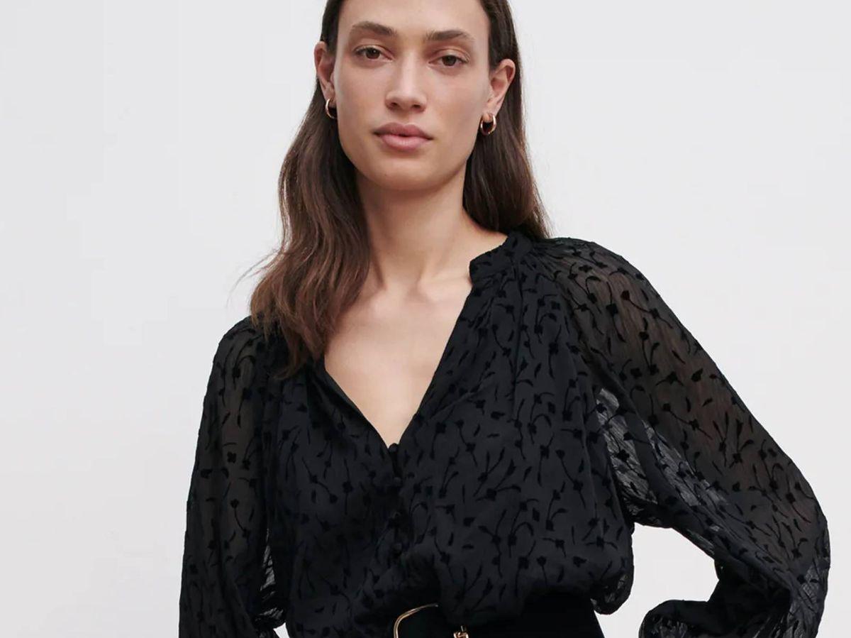Foto: Vestido negro de Zara. (Cortesía)