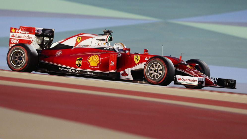 Foto: El Ferrari de Sebastian Vettel. (EFE)